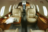Denver Midsize Private Charter Jet Interior